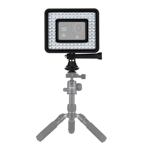 Andoer Action Camera LED Ring Light Dimmable