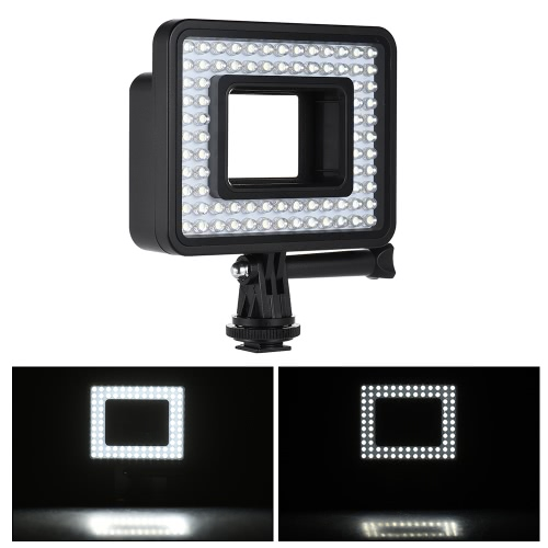 Andoer Action Camera LED Ring Light  Dimmable 80pcs Bead for GoPro Hero 4/3+/3 SJCam Sports Camcorder