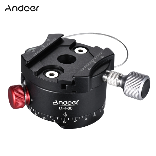 Andoer DH-60 Panoramic Ball Head Indexing Rotator HDR Tripod Head