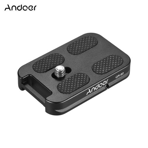 Andoer QR-60 Alliage d'aluminium Universal Quick Release Plate