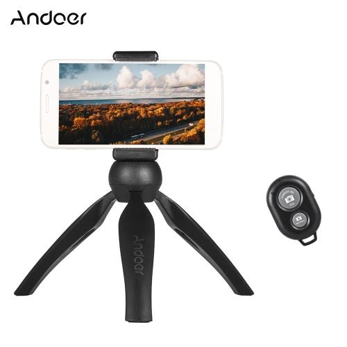 Andoer Mini Tabletop Tripod Phone Holder Remote Controller