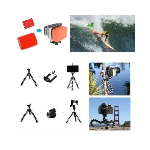 44in1 Accesorios de cámara Herramientas de cámara para fotografía de exteriores Herramienta de protección de cámaras para Gopro Hero 5 4 3 2 1 Yi 4 k SJCAM SJ4000 SJ5000 SJ6000 SJ7000 EKEN H9R H8W