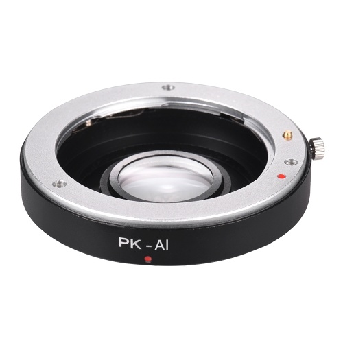 PK-AI Lens Mount Adapter Ring with Optical Glass for Pentax K Mount Lens to Fit for Nikon AI F Mount Camera Body Focus Infinity