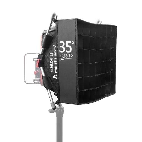 Aputure EZ Box+ II Portable Studio Photography Softbox Kit with Diffuser Cloth Fabric Grid for Amaran HR-528/ HR-672/ TRi-8 LED Light Panels