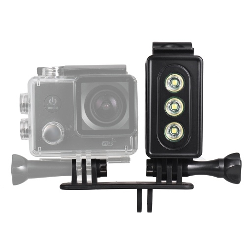 Action Camera LED Diving Light Underwater Lamp 300LM 3 Lighting Modes 30m Waterproof with Rechargeable Battery for GoPro Hero 7/6/5s/5/4s/4/3+/3 for SJCAM Xiaomi Yi Sports Cameras