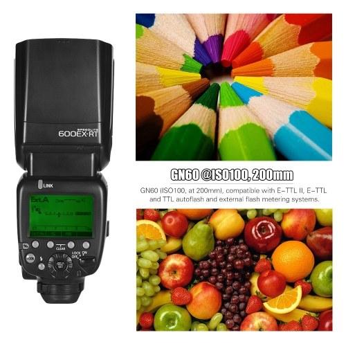 FK600EX-RT GN60 E-TTL Flash Speedlite On-camera Flash 2.4G Wireless Radio Master Slave 1/8000 HSS for Canon EOS Cameras