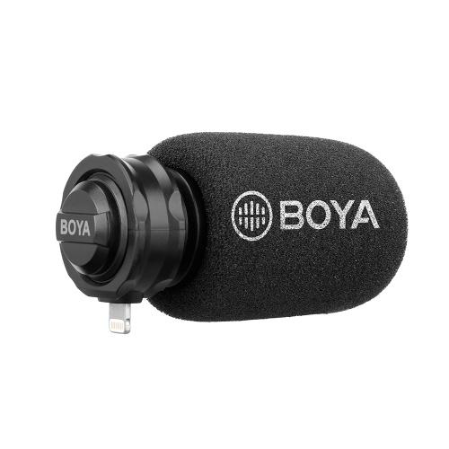 BOYA BY-DM200 Digitales Stereo Cardioid-Kondensatormikrofon MFI-zertifizierter hervorragender Klang für iOS-Geräte