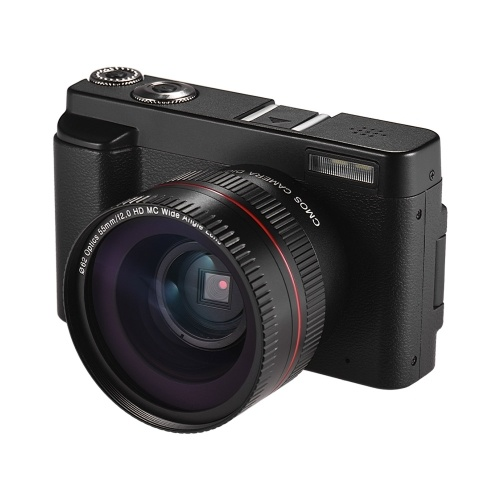 Full HD 1080P 24MP Portable Digital Camera DC with 3 Inch Screen Photo & Video Shooting Support 16X Digital Zoom Wifi Connection Multiple Languages Face Detection Anti-shake Beauty Function with Ultra Wide Angle Lens 2 Batteries