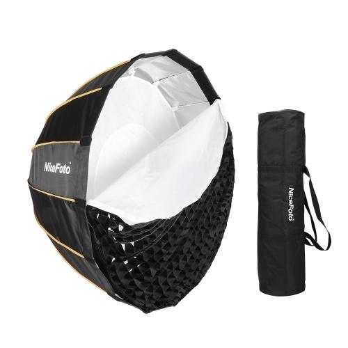 NiceFoto Boite à lumière Soft Parapluie Parabolique Profond Pliable Pour Installation Rapide LED-20120cm