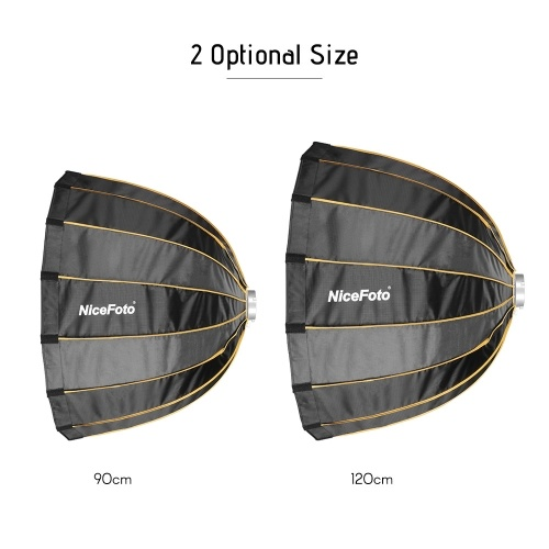 NiceFoto LED-Φ120cm Quick Set-up Folding Deep Parabolic Umbrella Softbox