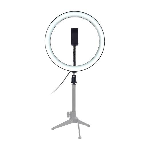 """10 """"Dimmable LED Selfie lumière ronde avec lampe de luminosité réglable clip téléphone"""