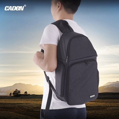 CADeN D15 Camera Sling Backpack Single-Shoulder Camera Bag Messenger Bag for Camera 3 Lenses for Pad Flash Tripod/Monopod