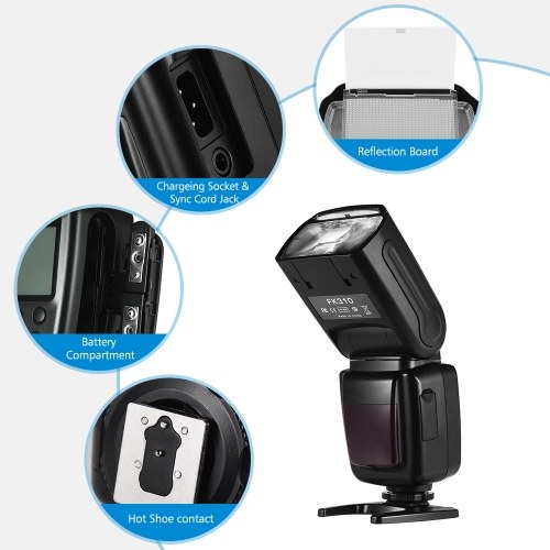 Andoer Universal Wireless Camera Flash Light Speedlite GN33 LCD Display for Canon Nikon Sony Olympus Pentax DSLR Cameras