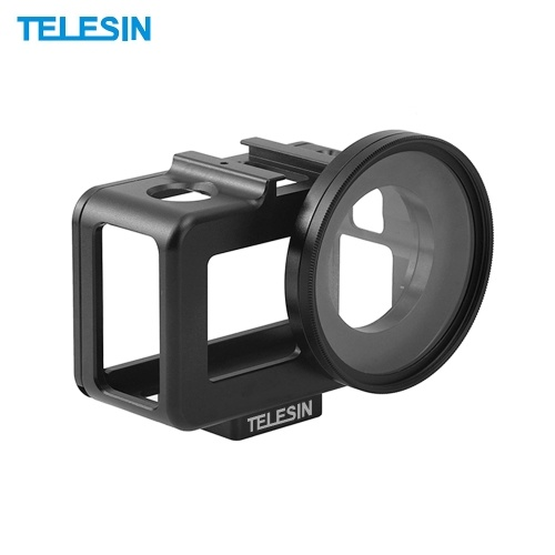 TELESIN Aluminum Alloy Protective Border Housing Frame Case Shell Cage