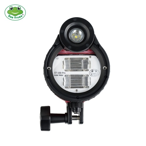 Sea frogs ST-100-Pro Flash Strobe Diving Light  Waterproof  Max. 100m/328ft 5600K with Optic Cable for Sony Canon Fujifilm Nikon Camera Housing Diving Case for Underwater Photography