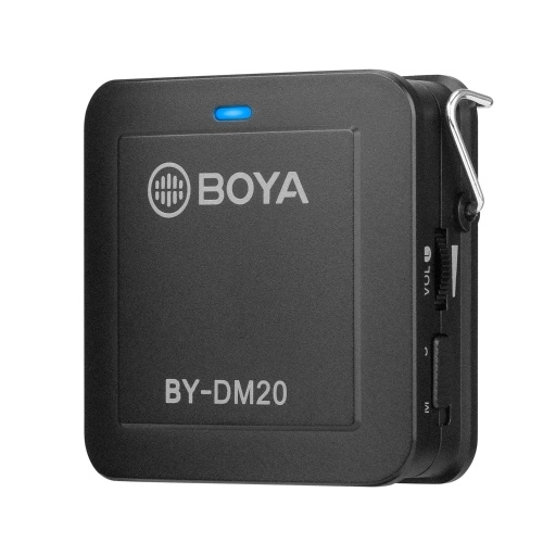 BOYA BY-DM20 Dual Head Detachable Lavalier Lapel Microphone Stereo Mono Selectable Real-time Headphone Monitoring