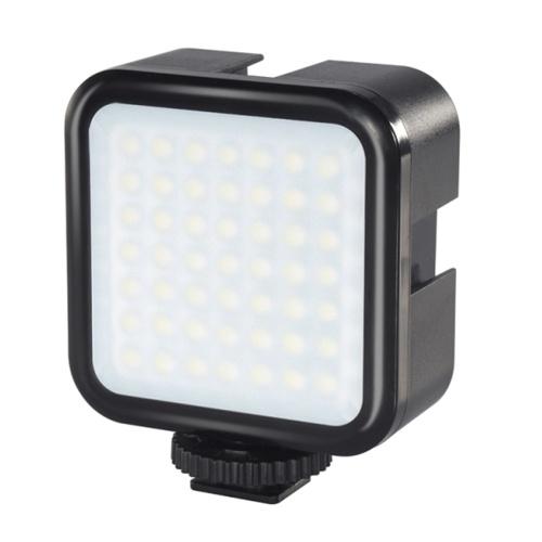 Lumière de remplissage de caméra PULUZ 3W 49 perles de lampe à intensité variable, vidéo portable faisant la lumière