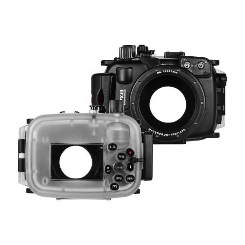 Seefrösche Unterwassertauchgehäuse Wasserdichte Kamera Schutzhülle 40M / 130FT Tiefe Kompatibel mit Canon G7X Mark Ⅲ