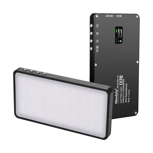 Manbily MFL-07 Painel de luz de vídeo LED RGB portátil Regulável 3000K-6500K Mini Pocket Photography Fill Light