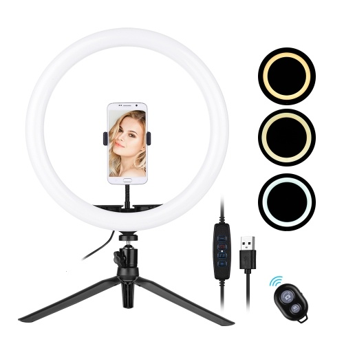30cm / 12inch LED Ring Light 5600-8200K Diammable 3 Couleurs