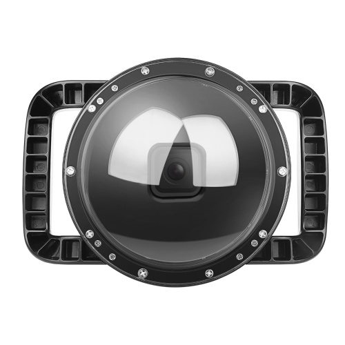 SHOOT XTGP548 Underwater Dome Dual Handheld Tray Dome Port Housing Case Waterproof Diving Protective Case