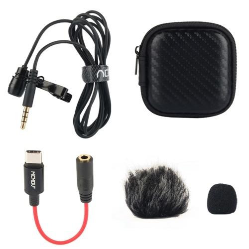 Microfone de lapela de lapela com clipe omnidirecional de cabeça única