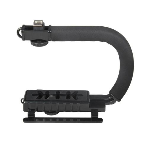 Poignée de stabilisateur de caméscope U-Grip Stabilisateur vidéo en forme de C à cardan portable DSLR