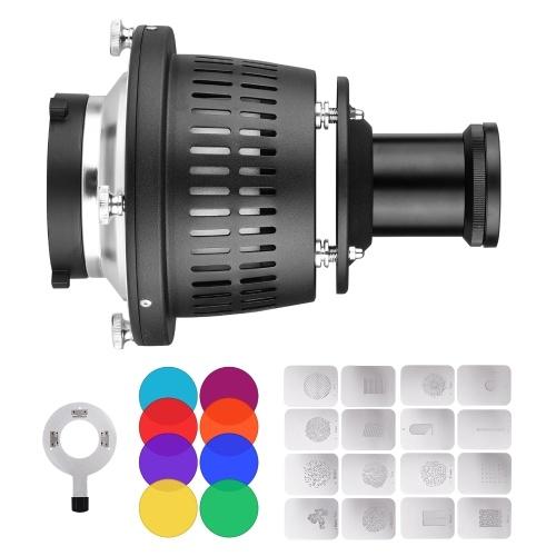 Bowens Mount Optischer Snoot Konischer Focalize Kondensator Art Special Effects Shaped Beam Light Cylinder
