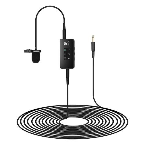 Microfone de lapela omnidirecional XFAN PRO Microfone condensador com fio com clipe
