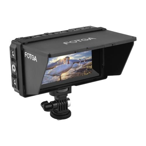 Fotga E50 4K Feldmonitor vor der Kamera