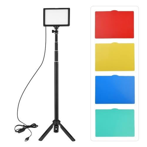 Kit de luz de vídeo LED Andoer USB Iluminação fotográfica 3200K-5600K 120pcs Beads 14 níveis reguláveis