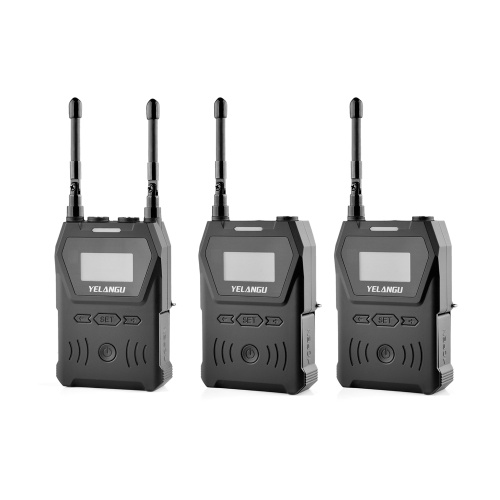 YELANGU MX4 One-Trigger-Two UHF Dual-Channel Wireless Microphone System