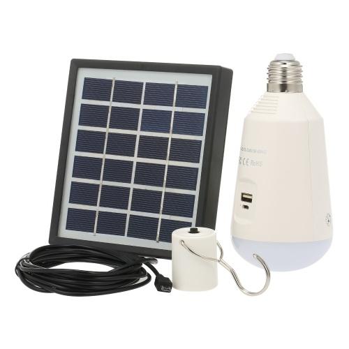 7W E27 перезаряжаемая солнечная светодиодная лампа