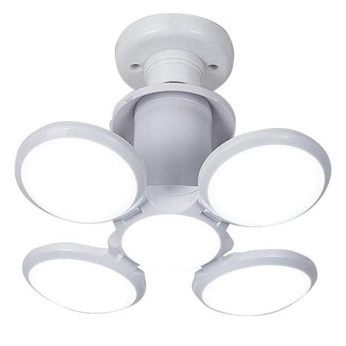 40W LED Basement Lights E26/E27 LED Light Bulb Ceiling Lighting Daylight Lamps with 4 Adjustable Panels