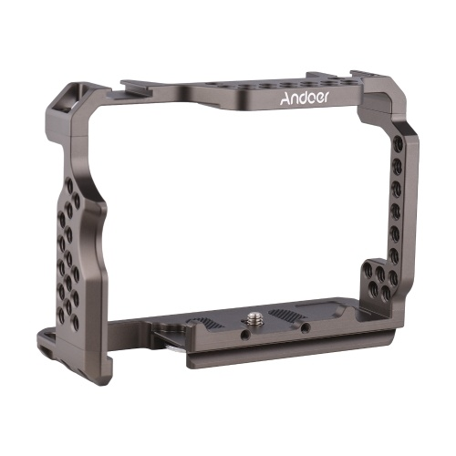 Remplacement de plate-forme vidéo de cage de caméra en alliage d'aluminium Andoer pour Sony A7R III / A7 II / A7III