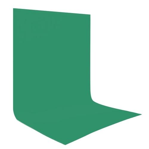 Écran de fond de photographie vert 1 * 1,6 m / 3,3 * 5,2 pieds