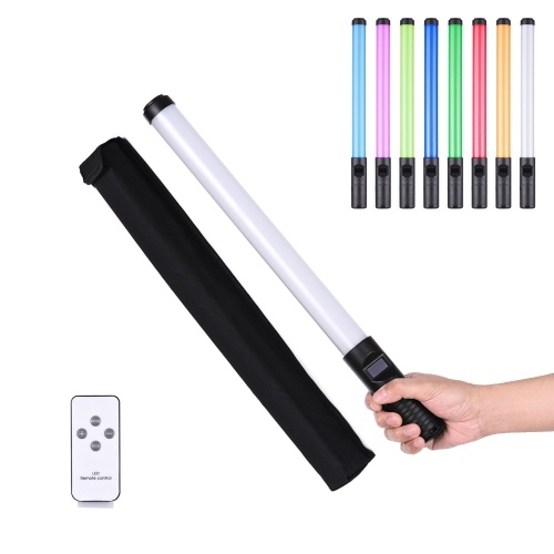 Портативный светодиодный светильник для фотосъемки с цветной RGB-подсветкой 20 Вт