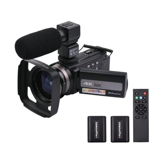 Andoer 4K 60FPS Ultra HD Digital Video Camera DV Camcorder