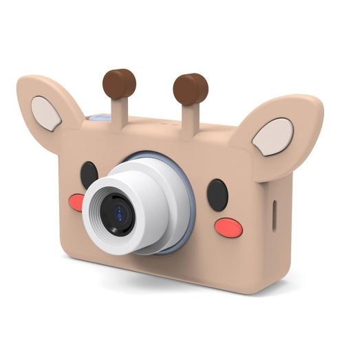 C1 Kids Selfie Camera 32MP Digital Video Cameras for Kids 2 inches IPS Screen with Face Recognition Cartoon Protecive Case 32G TF Card Gifts for Girls Boys