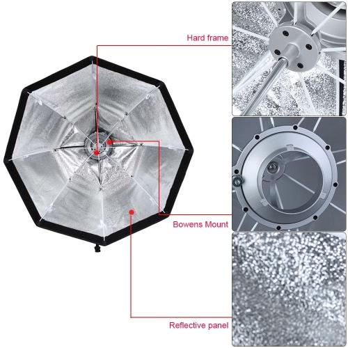 Godox SB-UE 80 см/31.5 в портативный зонтик Восьмиугольный софтбокс с Bowens крепление для Speedlite
