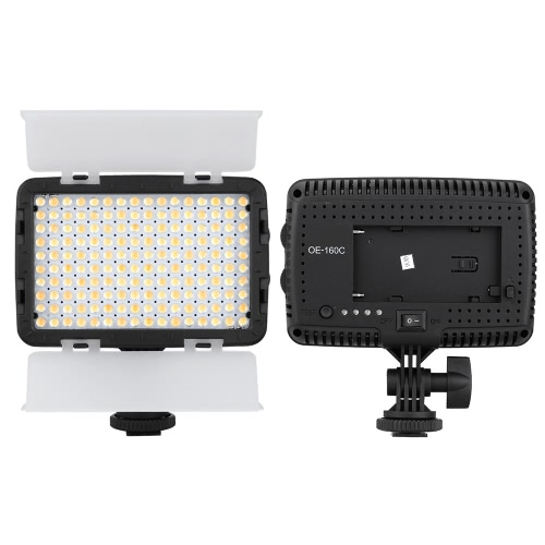 OE-160C 160 LEDs 3200K-5600K Adjustable Color Temperature Photography Studio Video Camera Camcorder LED Panel Fill-in Light for Canon Nikon Pentax Sony Olympus