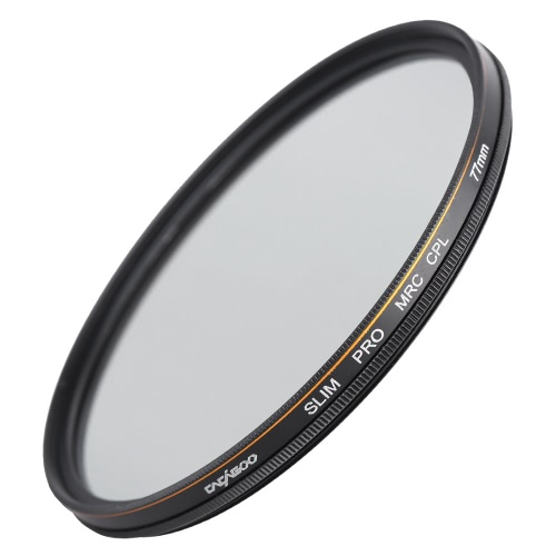 CACAGOO 77mm CPL Circular Polarizer Filter Photography Multi-coated Optical Glass Lens Filter for Canon Nikon Sony Pentax DSLR Camera