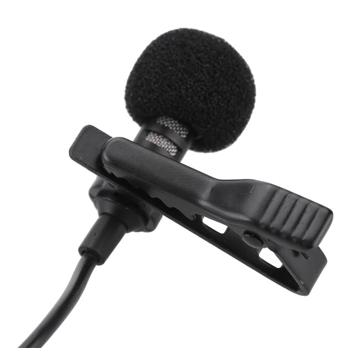 Mini Portable Clip-on Lapel Lavalier Hands-free 3.5mm Jack Condenser Wired Microphone Mic for iPhone iPad Smartphones Computer PC Laptop Loudspeaker