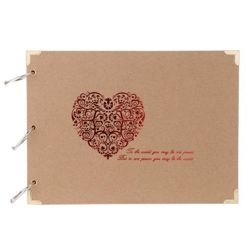 DIY Handmade Adhesive Sticker Sticky Paste Classic Hardboard Hard Paper Decorative Photo Album Scrapbook Vintage Style 20pcs Sheet Page Anniversary Valentines Day Birthday Gifts Present