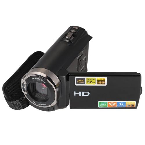 3,0-дюймовый TFT LCD сенсорный экран 1080P Full HD 20MP 16X Zoom Цифровой видеорегистратор DVR Поддержка видеокамеры