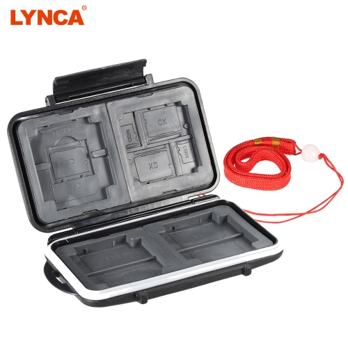 Boîte de rangement LYNCA Support de Carte Mémoire Protecteur pour 4CF 3XD + 5SD + 1MSPD + 2TF ABS TPR matériau étanche caméra antidérapant accessoires