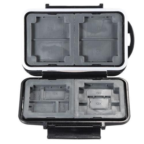LYNCA メモリ カード収納ボックス ケース ホルダー プロテクター 4 cf + 5SD + 3XD + 2TF + 1MSPD の abs 樹脂 TPR 素材防水滑り止めカメラ アクセサリー供給