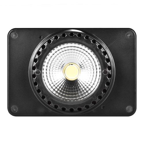 Andoer SC-408 Mini LED Vidéo Lumière Photo Studio Lampe Dimmable 5500K Lumière du jour Batterie 4000mAh intégrée USB rechargeable, avec filtre jaune blanc / adaptateur