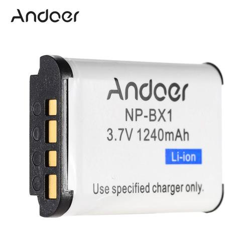Andoer NP-BX1 recargable Li-ion batería 3.7V 1240mAh para Sony Cyber-shot serie DSC RX100 II RX1R HX300 HX50V WX300
