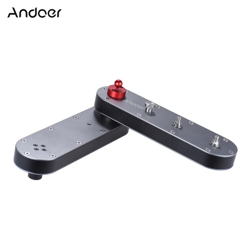 Andoer Portable Camera Slider z panoramicznym i liniowym ruchem Rozciąga się na odległość do 4 × dla kamer Action GoPro / aparatów fotograficznych Smartphone / DSLR / ILDC Nagrywanie wideo Przenośne pudełko aluminiowe
